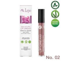 Lepo 78 VEGÁN 100% természetes krémrúzs, No. 02 intenzív rózsa