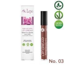 Lepo 78 VEGÁN 100% természetes krémrúzs, No. 03 vörös bársony