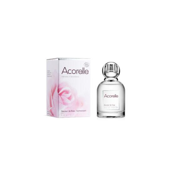 Acorelle Bio Eau De Parfum, Bársonyos Rózsa (Harmonizál), 50 ml