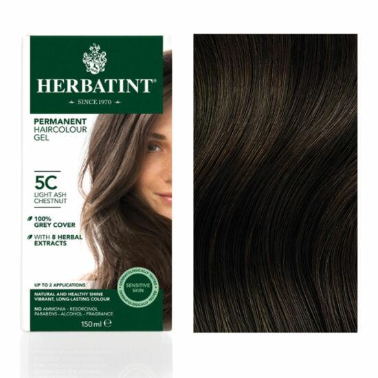 Herbatint 5C Világos hamvas gesztenye hajfesték, 150 ml