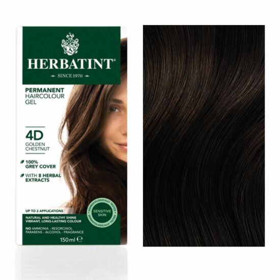 Herbatint 4D Arany gesztenye hajfesték, 150 ml