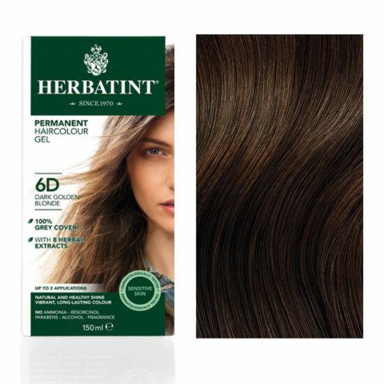 Herbatint 6D Arany sötétszőke (világosbarna) hajfesték, 150 ml