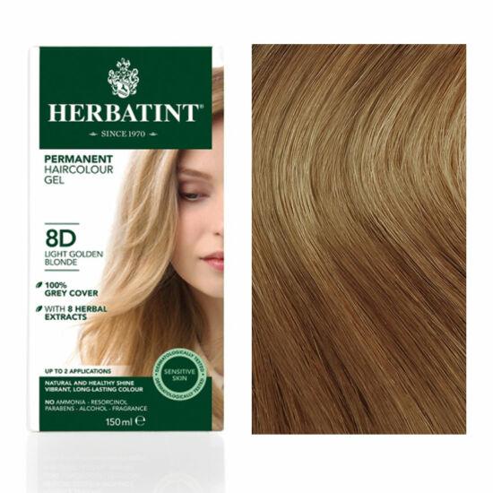 Herbatint 8D Arany világos szőke hajfesték, 135 ml
