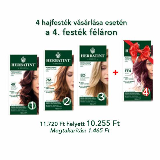 Herbatint hajfesték csomag, 3 db + 1 db féláron