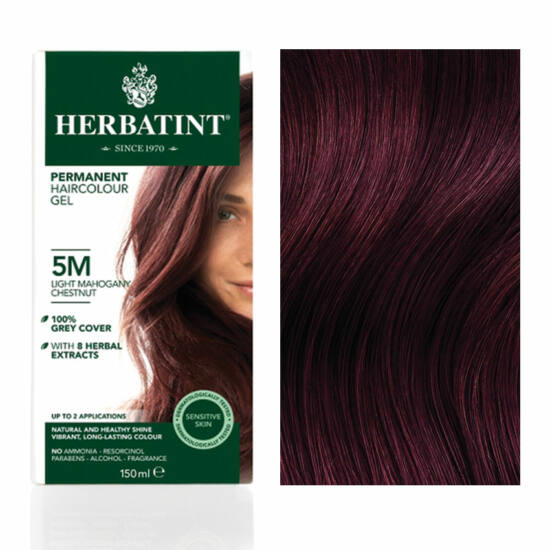 Herbatint 5M Mahagóni világos gesztenye hajfesték, 150 ml