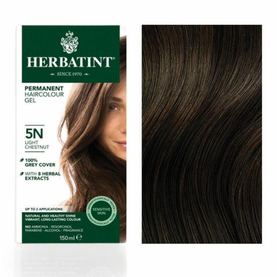 Herbatint 5N Világos gesztenye hajfesték, 150 ml