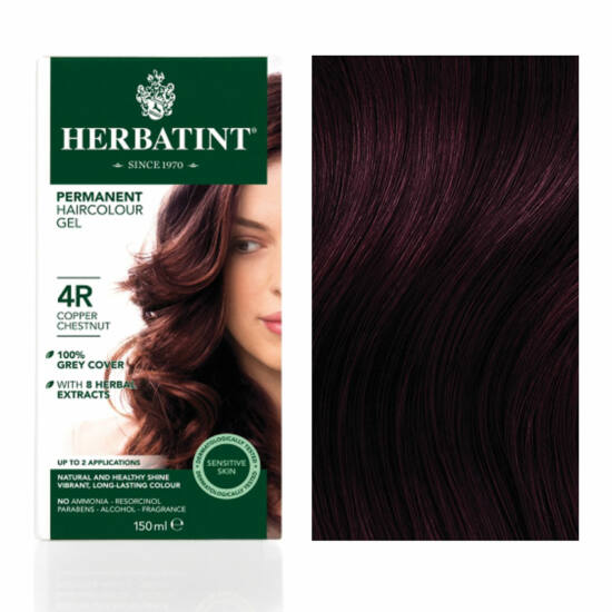 Herbatint 4R Réz gesztenye hajfesték, 135 ml