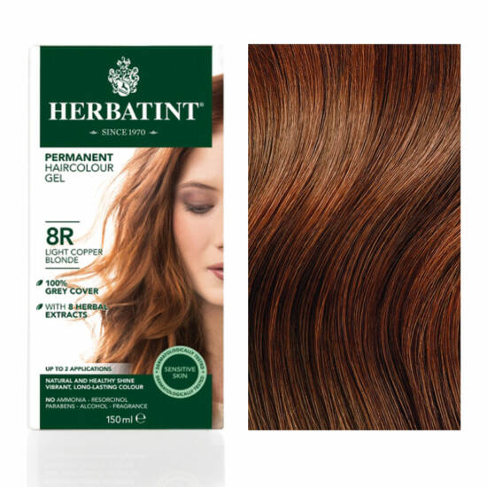 Herbatint 8R Réz világos szőke hajfesték, 150 ml