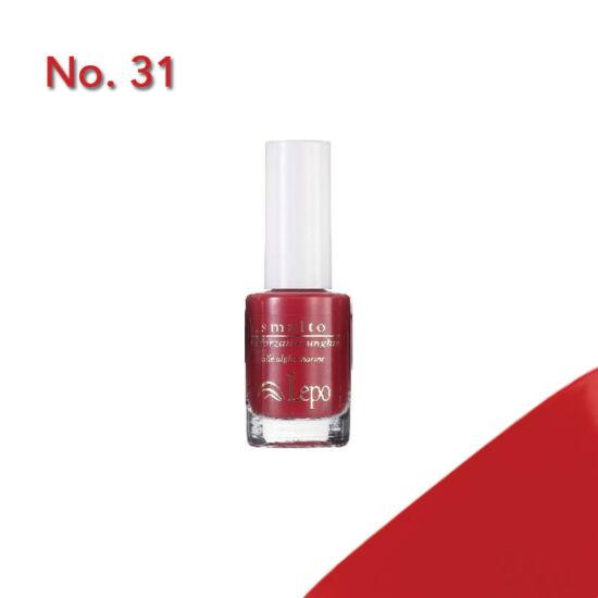Lepo 607 körömerősítő körömlakk, No. 31 piros (Kifutó)