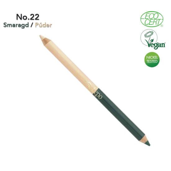 Lepo 611 BIO Duo Szemceruza, No. 22 Smaragd / Púder