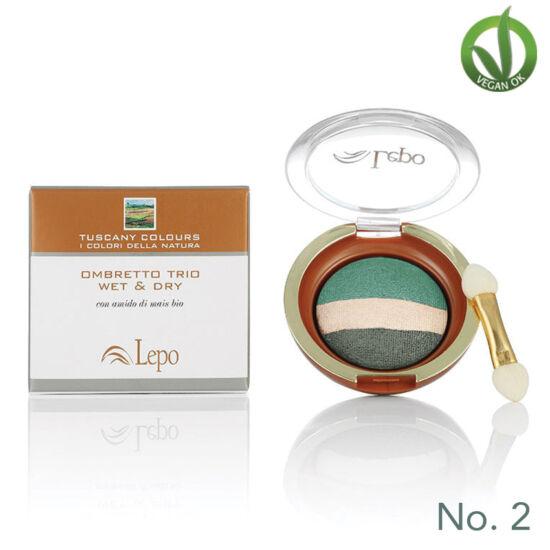 Lepo 625D natúr trio száraz & nedves szemhéjpúder No. 2, Zöld