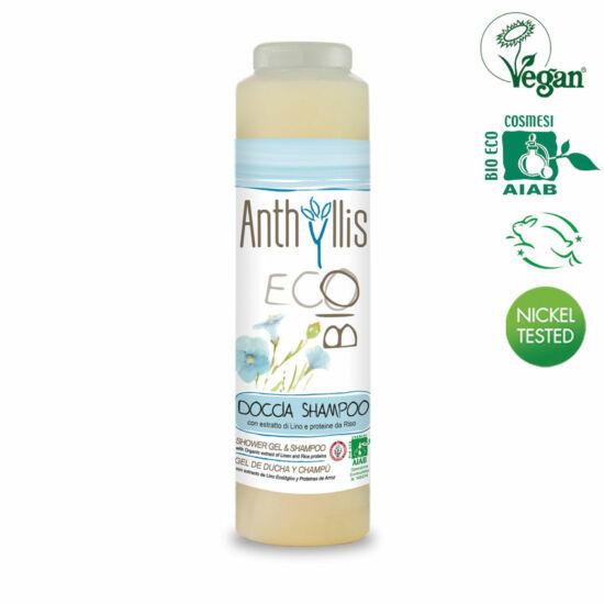 Anthyllis BIO tanúsított 2 in 1 sampon & tusfürdő, 250 ml